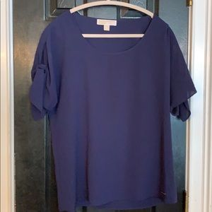 Michael Kors Navy short sleeve blouse medium